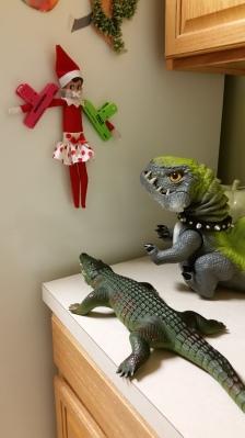 Elf on the Shelf in trouble