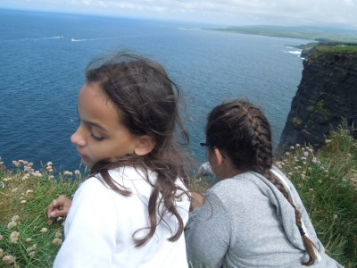 Cliffs of Moher girls