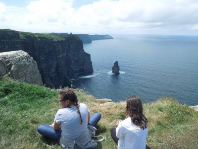 Girls Cliffs of Moher