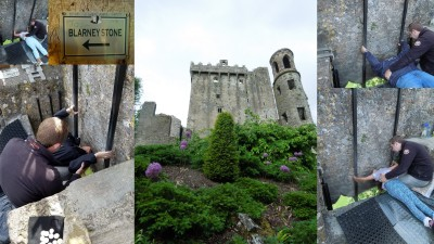Kissing the Blarney Stone